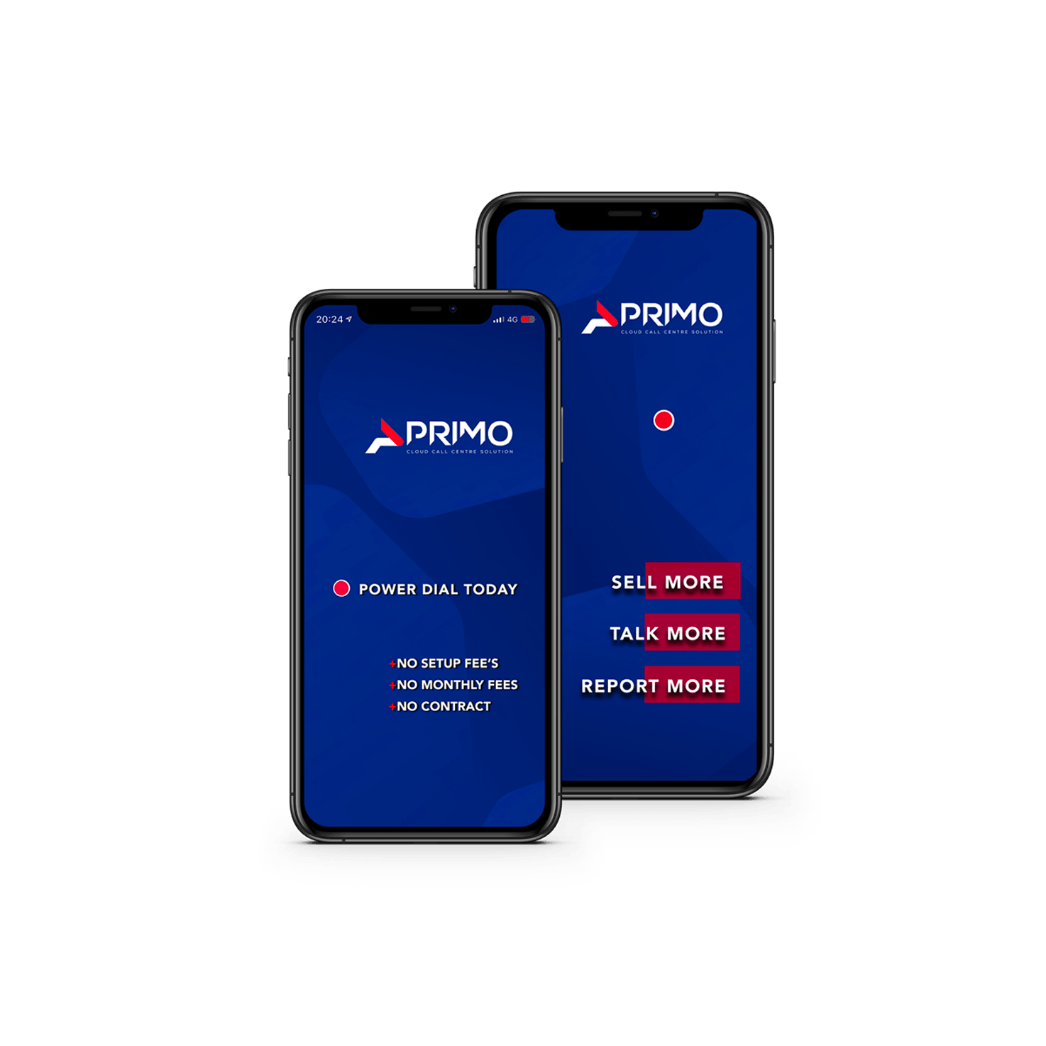 Primo Dialer Web Design Mobile USA